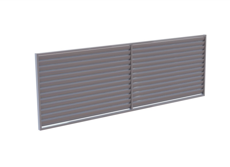 Fixed Louvre & Slatted Screens - Privacy Screens & Louvres